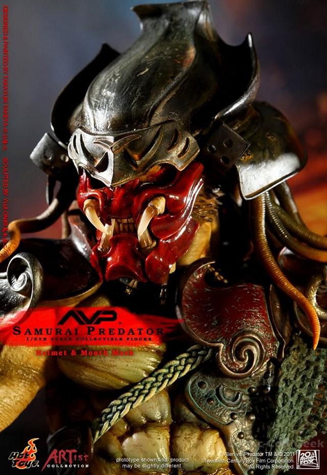 samurai predator collectible figure by hot toys comic