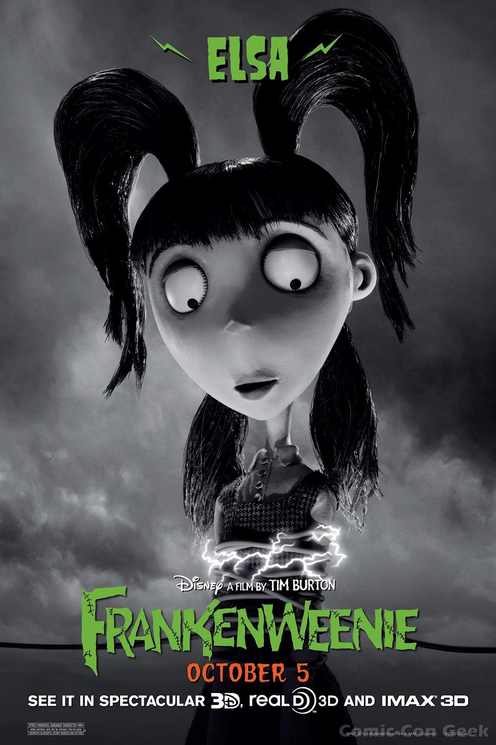 frankenweenie posters and character info comiccon geek