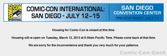 Comic-Con 2013 - Housing - Hotel Reservations - Travel Planners - 06