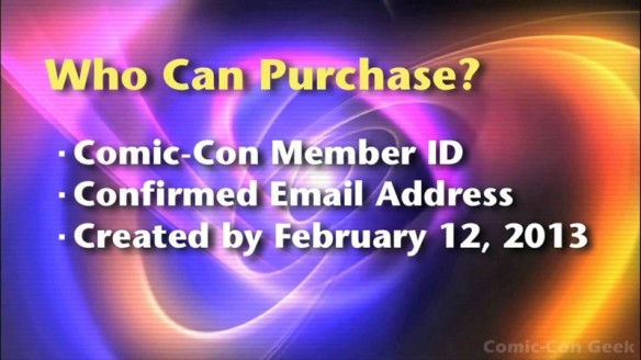 Comic-Con 2013 Open Online Badge Registration - SDCC Badge Purchase 002