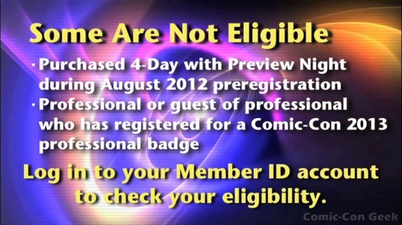 Comic-Con 2013 Open Online Badge Registration - SDCC Badge Purchase 004