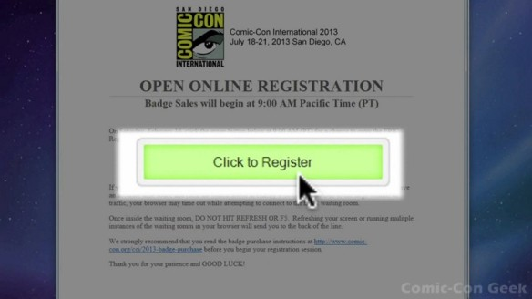 Comic-Con 2013 Open Online Badge Registration - SDCC Badge Purchase 008
