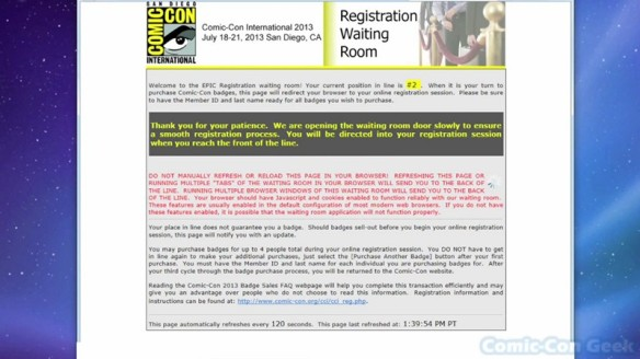 Comic-Con 2013 Open Online Badge Registration - SDCC Badge Purchase 010