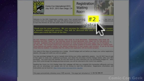 Comic-Con 2013 Open Online Badge Registration - SDCC Badge Purchase 012