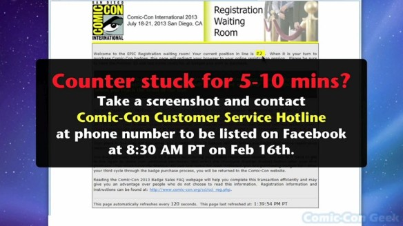 Comic-Con 2013 Open Online Badge Registration - SDCC Badge Purchase 013