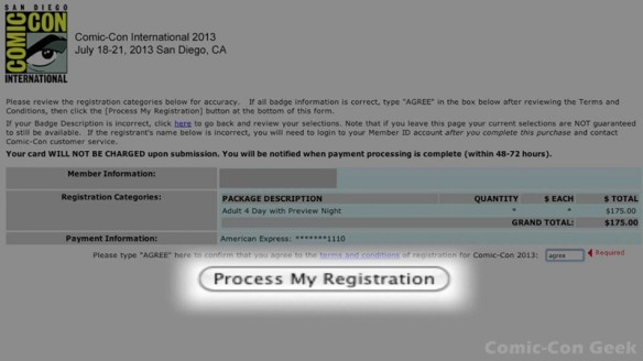 Comic-Con 2013 Open Online Badge Registration - SDCC Badge Purchase 029