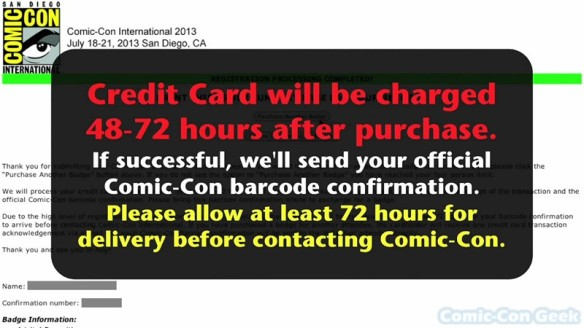Comic-Con 2013 Open Online Badge Registration - SDCC Badge Purchase 034