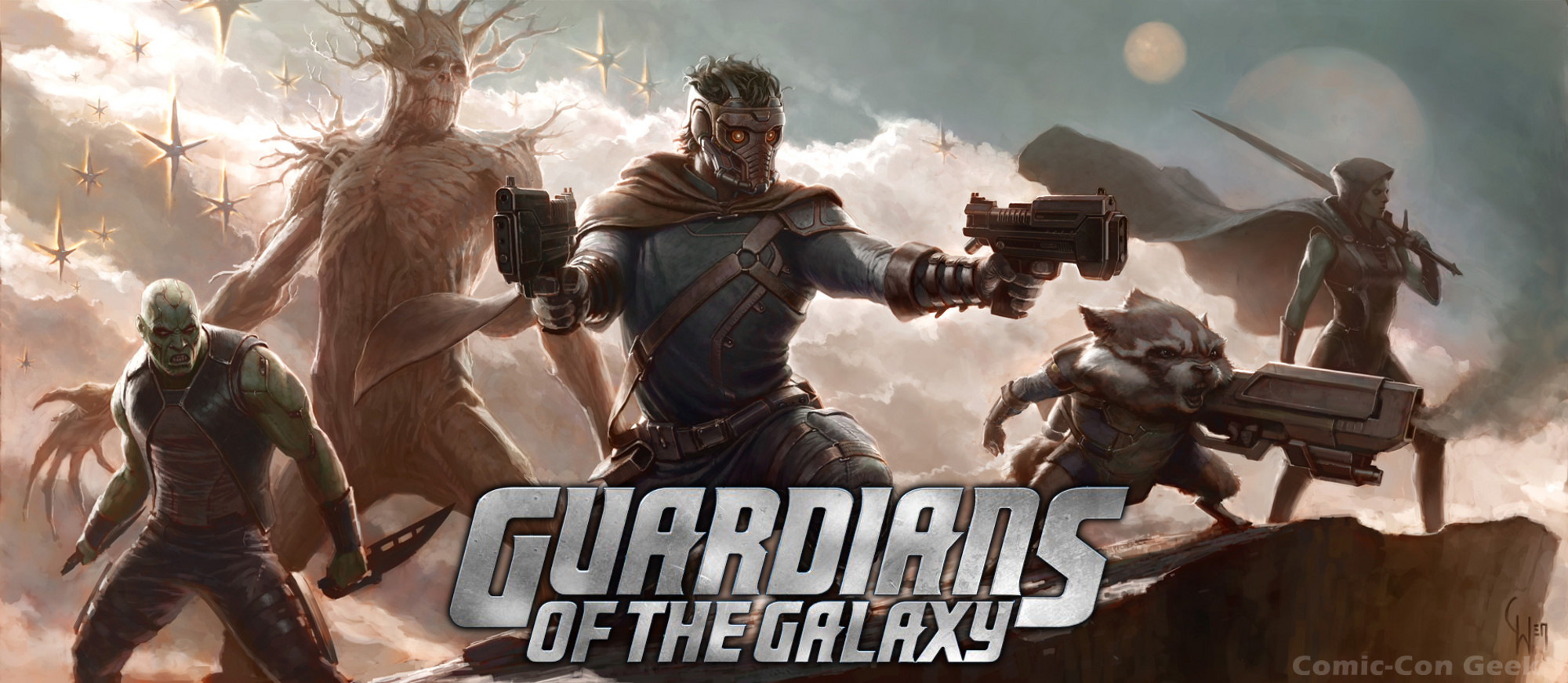 Guardians of the Galaxy - Star-Lord - Drax the Destroyer - Gamora