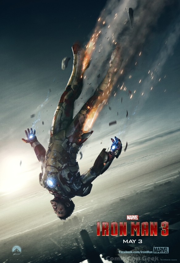 Iron Man 3 - Bus Shelter Poster - Falling from the sky