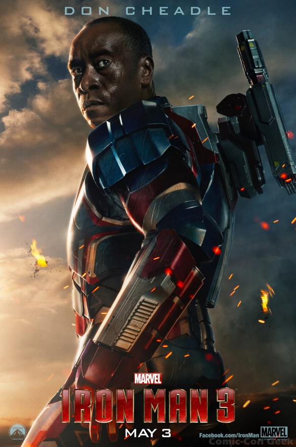 Iron Man 3 - Don Cheadle - James Rhodes - War Machine - Iron Patriot - Poster