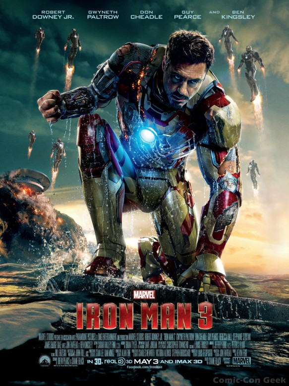 Iron Man 3 - Robert Downey Jr - Tony Stark - Battle Damaged Armor - Iron Men - Poster x