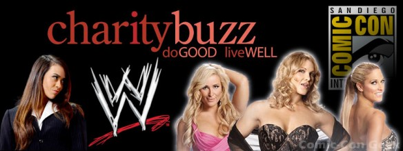 Charity Buzz - WWE - AJ Lee and the Divas - San Diego Comic-Con 2013 - SDCC - Header