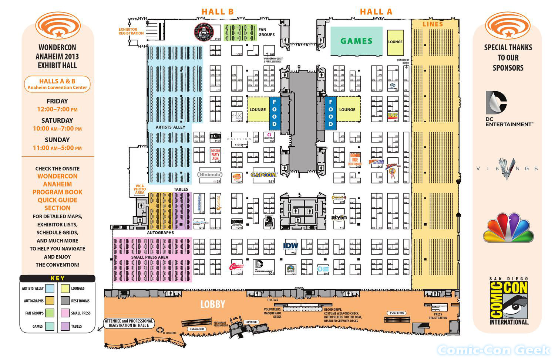 Orange County Convention Center Floor Plan: Comic-Con Geek