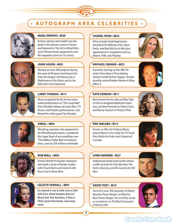 Schedule Comic Con Geek
