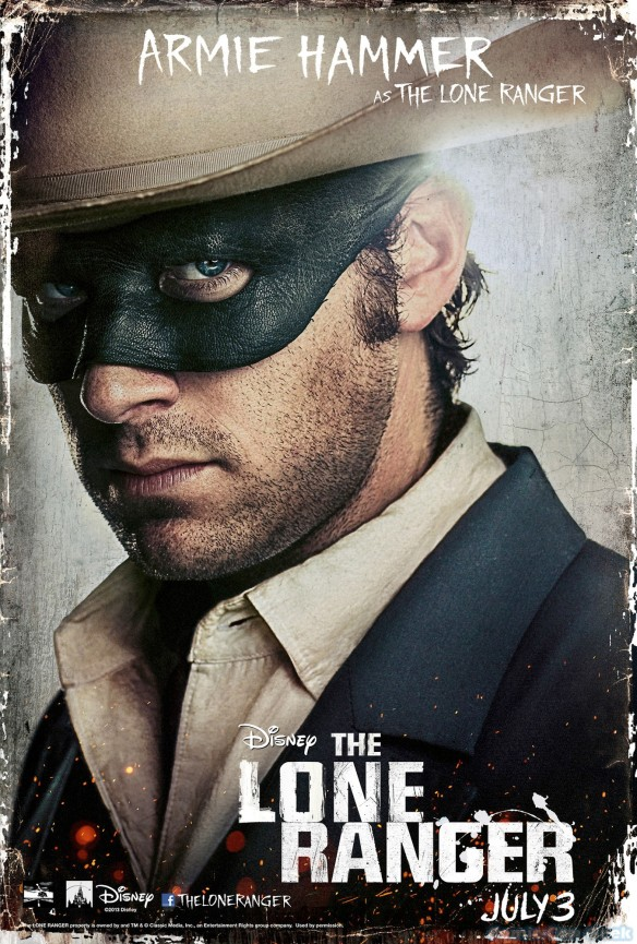 Armie Hammer as The Lone Ranger - Disney - Character Poster