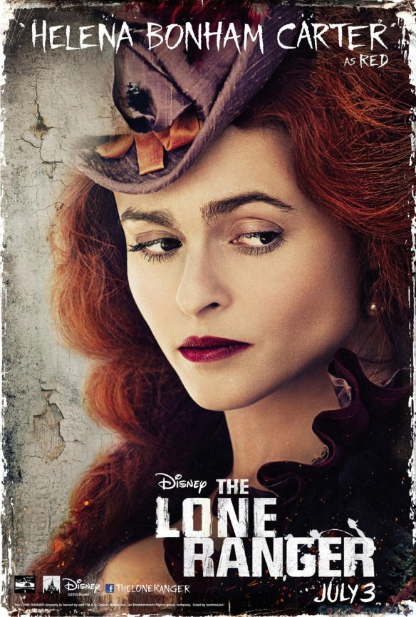 Helena Bonham Carter as Red - The Lone Ranger - Disney - Character Poster