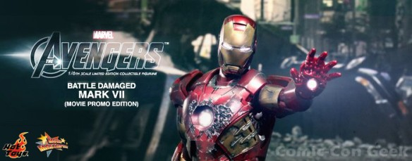 Hot Toys - The Avengers - Battle Damaged Iron Man Mark VII Limited Edition Collectible Figurine - Movie Promo Edition - Header