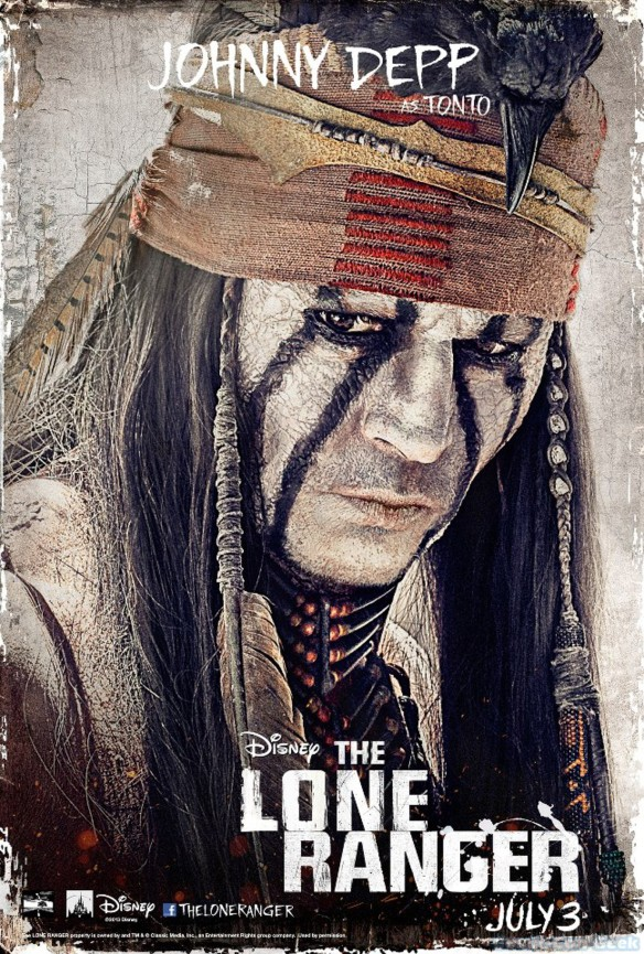 Johnny Depp as Tonto - The Lone Ranger - Disney - Character Poster
