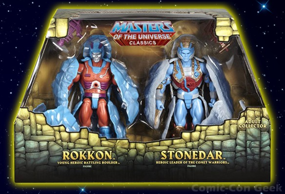 Masters of the Universe Classics Rokkon and Stonedar - MOTU - SDCC 2013 Exclusives Box Front - Mattel - Matty Collector
