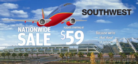 Southwest Airlines - Nationwide Sale - San Diego Comic-Con - SDCC - Convention Center - Header
