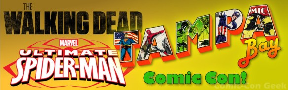 Tampa Bay Comic Con - The Walking Dead - Ultimate Spider-Man - Header