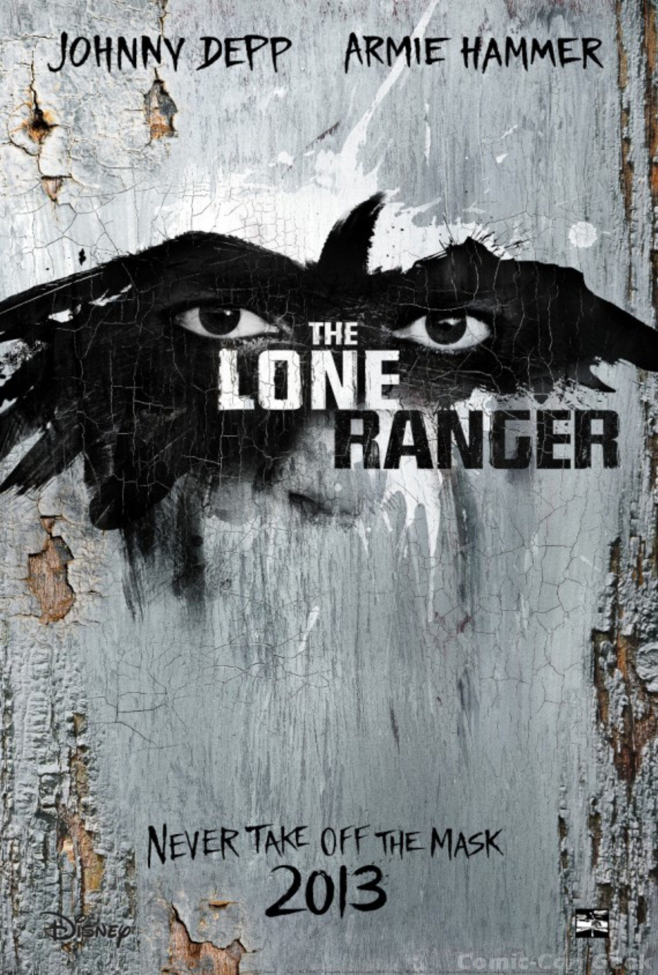 disney releases new the lone ranger posters comiccon geek