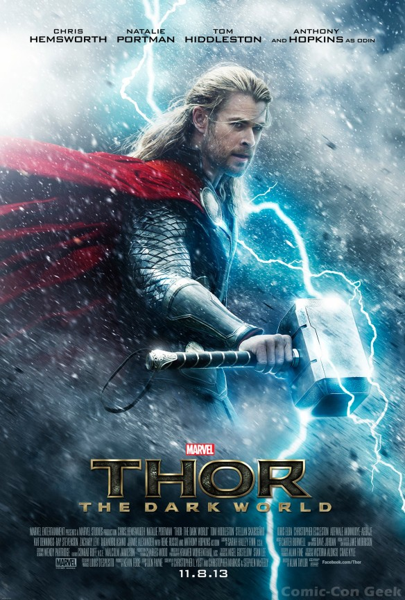 Thor - The Dark World - The God of Thunder - Chris Hemsworth - Marvel - Poster