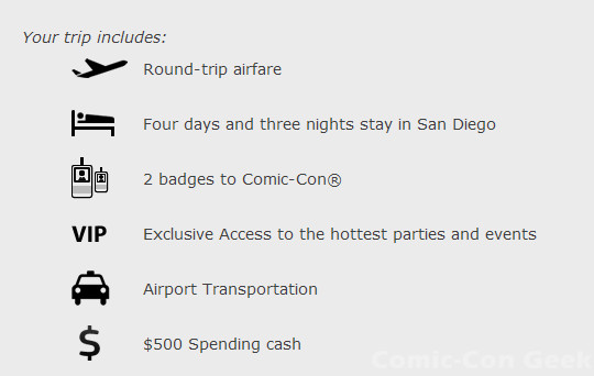 Ben's Bargains - Game Rant - The Superhero-Sized Trip to San Diego Comic-Con Sweepstakes - SDCC - Grand Prize