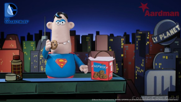 DC Collectibles - Aardman Superman with Box of Cookies - Comic-Con 2013 - SDCC Exclusives - Graphitti Designs