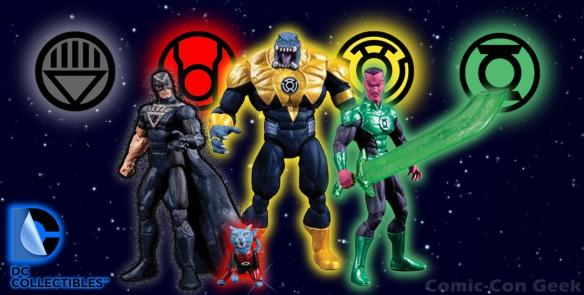 DC Collectibles - Superheroes of Green Lantern - Arkillo - Black Hand - Dex-Starr - Sinestro - Comic-Con 2013 - SDCC Exclusives - DC Comics - Black Yellow Red Green Lantern