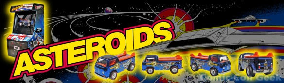 Hot Wheels Atari Beach Bomb Pickup - Asteroids - Comic-Con 2013 - SDCC Exclusives - Mattel - Matty Collector