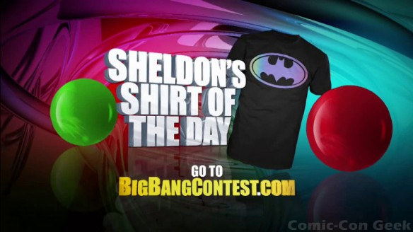 The Big Bang Theory Ultimate Fan Giveaway - Sheldon's Shirt of the Day - Hot Topic - Comic-Con 2013 - CBS - SDCC
