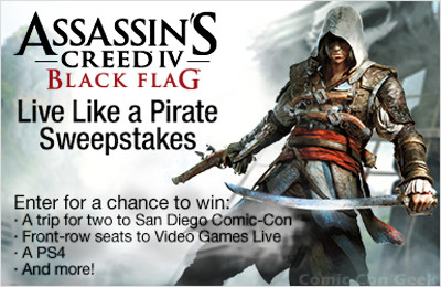 Amazon - Assassin's Creed IV - Black Flag - Live Like a Pirate Sweepstakes - Entry Page Link