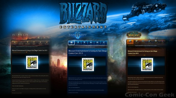 Blizzard Entertainment - Comic-Con 2013 - SDCC - Plans - Diablo III - Starcraft II - World of Warcraft - Blogs