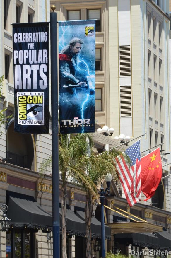 Comic-Con 2013 Banner in Downtown San Diego - Gaslamp Quarter - SDCC 2013 - Thor - The Dark World - Chris Hemsworth - SM