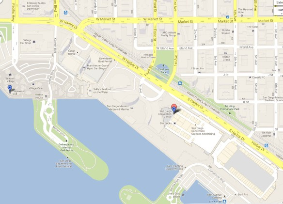 Edgewater Grill and Convention Center Area Map