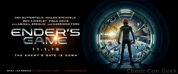 Ender's Game - Asa Butterfield - Mailee Steinfeld - Ben Kingsley - Viola Davis - Abigail Breslin - Harrison Ford - Summit Entertainment - Header