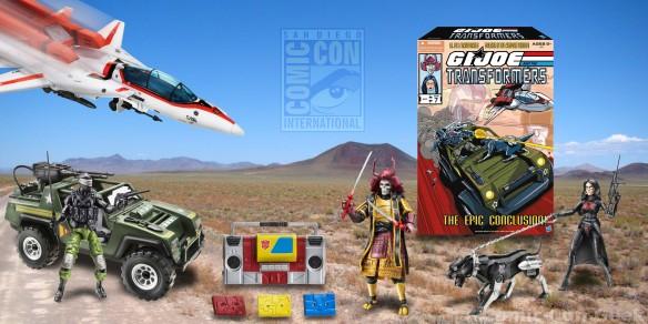 Hasbro - G.I. Joe - Transformers - Box - Packaging - Baroness - Ravage - Snake Eyes - Autobot Blaster - Skystriker - Jetfire - Vamp - Hound - Bludgeon Samurai Robot
