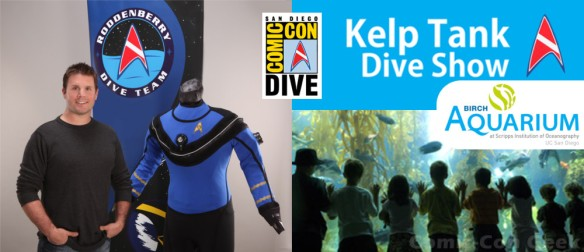 Rod Roddenberry - Roddenberry Dive Team - Birch Aquarium - Comic-Con Kelp Tank Dive Show - SDCC