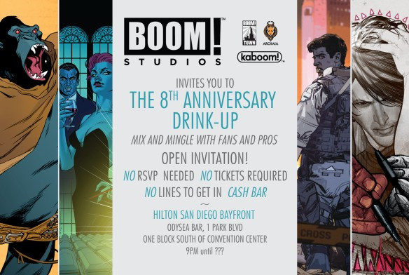 Boom Studios - Archaia Entertainment - SDCC 8th Anniversary Drink Up - Comic-Con 2013 - Back