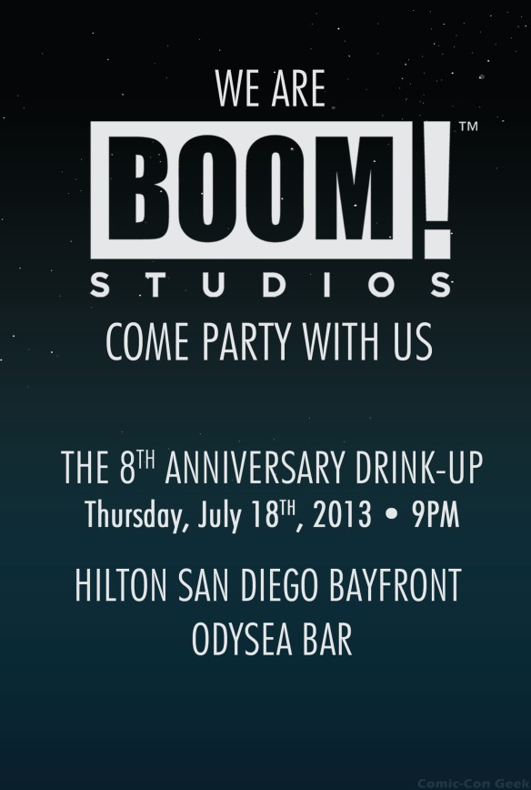 Boom Studios - Archaia Entertainment - SDCC 8th Anniversary Drink Up - Comic-Con 2013 - Front