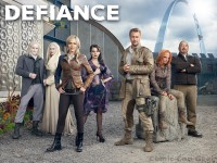 Defiance - Syfy - Cast Photo - Grant Bowler - Julie Benz - Stephanie Leonidas - Tony Curran - Jaime Murray - Graham Green - Mia Kirshner
