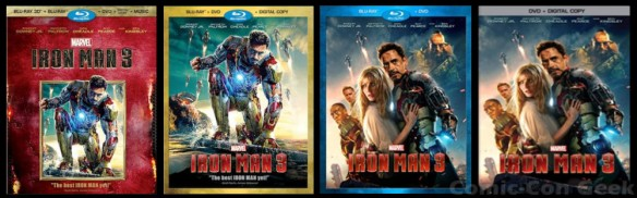 Iron Man 3 - Blu-ray - 3D - DVD - Digital Copy - Music - Covers - Marvel - Tony Stark - Robert Downey Jr