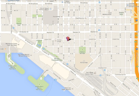 Map - Stingaree - Downtown - San Diego
