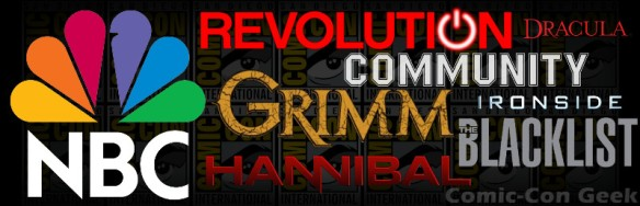 NBC - Grimm - Revolution - The Blacklist - Hannibal - Community - Dracula - Ironside - Comic-Con 2013 - SDCC - Header r1