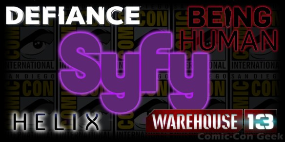 Syfy - Defiance - Being Human - Warehouse 13 - Helix - Comic-Con - SDCC - Header