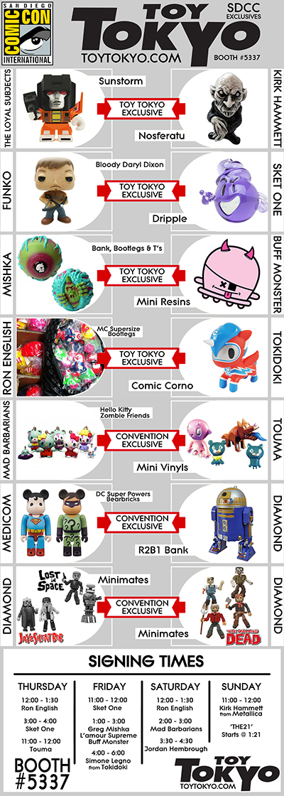Toy Tokyo - SDCC - Comic-Con 2013 Flyer