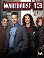 Warehouse 13 - Syfy - Cast Photo - Eddie McClintock - Joanne Kelly - Saul Rubinek - Allison Scagliotti