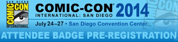 Comic-Con 2014 - Attendee Badge Pre-Registration - SDCC - Header