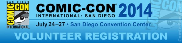 Comic-Con 2014 - Volunteer Registration - SDCC - Header